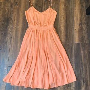 Paper Crown Casual Peach Dress